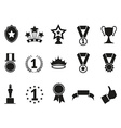 black award icons set vector image vector image