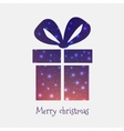 Abstract Creative concept icon of gift box vector image