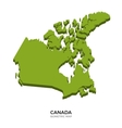 Isometric map of Canada detailed vector image