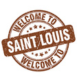 welcome to Saint Louis vector image