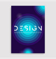 brochure cover geometric design a4 size template vector image