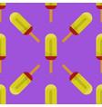fruit ice cream seamless pattern background vector image