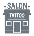 house tattoo salon logo simple gray style vector image