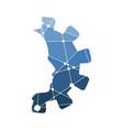 industry flat emblem vector image