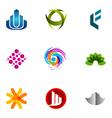 Logo design elements set 52 vector image