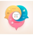 Modern business circle bubbles options banner vector image