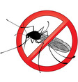 No mosquito gnat insect sign vector image