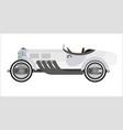 old sport car or vintage retro racing collector vector image