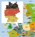 Original map of Europe and Germany vector image