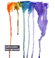 rainbow watercolor abstract background vector image