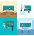 School Education Concept Set vector image