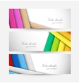 Set of striped banners vector image