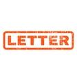 Letter Rubber Stamp vector image