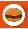 hamburger fast food concept pin map design vector image