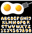 fried eggs alphabet vector image