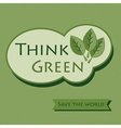 Think green message icon on pattern background vector image