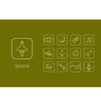 Set of space simple icons vector image