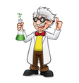 Cartoon Professor Thumb Up vector image vector image