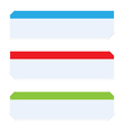 set of web banners with corners vector image