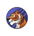 Tiger Circle Badge vector image vector image