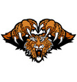 Tiger Mascot Pouncing Graphic Vector Image
