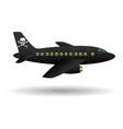 black pirate plane isolated object vector image