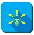 Bulb Light Longshadow Icon vector image