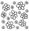 Scribble series - flowers vector image