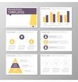 Set of purple and orange template for multipurpose vector image