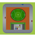 Top view of football field vector image