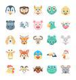 Birds and Animals Faces-2 vector image