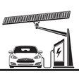 car solar cell electric filling station vector image
