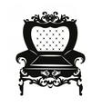 Vintage Rococo Classic Armchair vector image