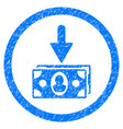 banknotes income rounded grainy icon vector image
