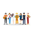 a group of different professions flat design vector image