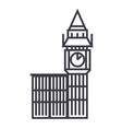 big ben london line icon sign vector image