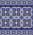 blue ornament traditional portuguese azulejos vector image