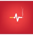 Cigarette heart bit vector image