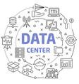 data center linear slide for the vector image