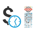 Dollar Credit Icon With 2017 Year Bonus Symbols vector image