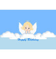 greeting card with the angel vector image