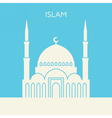 Mosque icon Islam building vector image