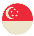Singapore flag post vector image