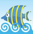 sweet and funny fish vector image