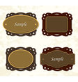Vintage coffee and chocolate badges vector image