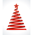 Christmas tree from ribbon design element vector image vector image