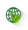 global sphere with leaves icon vector image