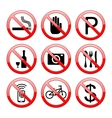 No Sign Icons vector image