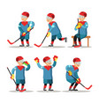 hockey player cartoon winter sports vector image