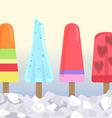 icecream bars2 vector image vector image